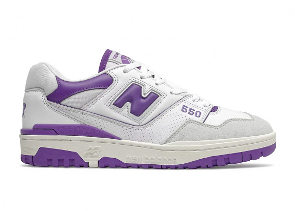 New Balance 550 White Purple - BB550WR1