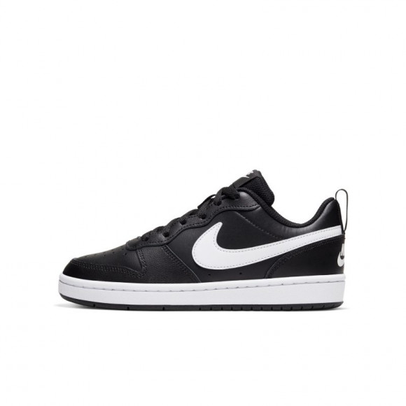 Nike  COURT BOROUGH LOW 2 GS  boys's Shoes (Trainers) in Black - BQ5448-002