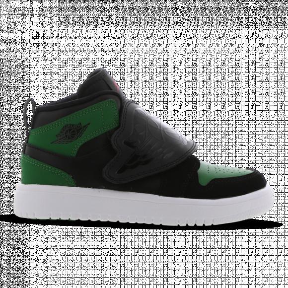 Jordan Boys Jordan Sky Jordan 1 - Boys' Preschool Shoes Black/Green/Red Size 03.0 - BQ7197-003