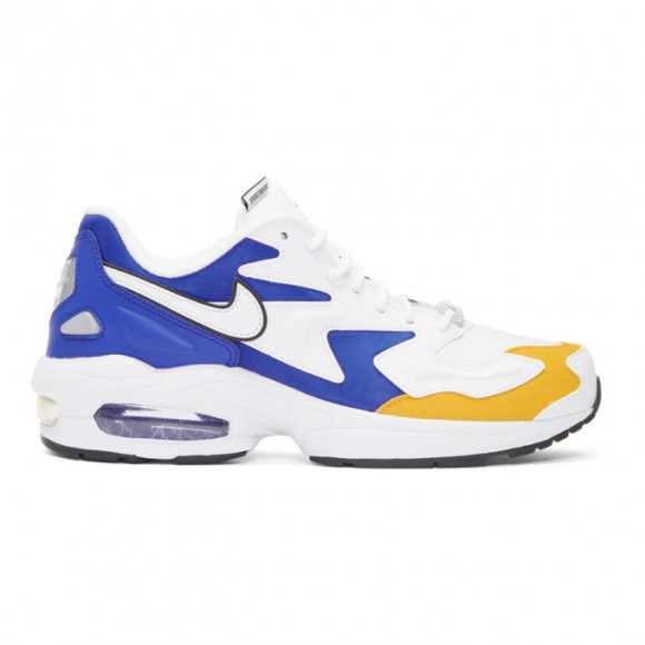Nike White and Blue Air Max 2 Light Sneakers - BV0987