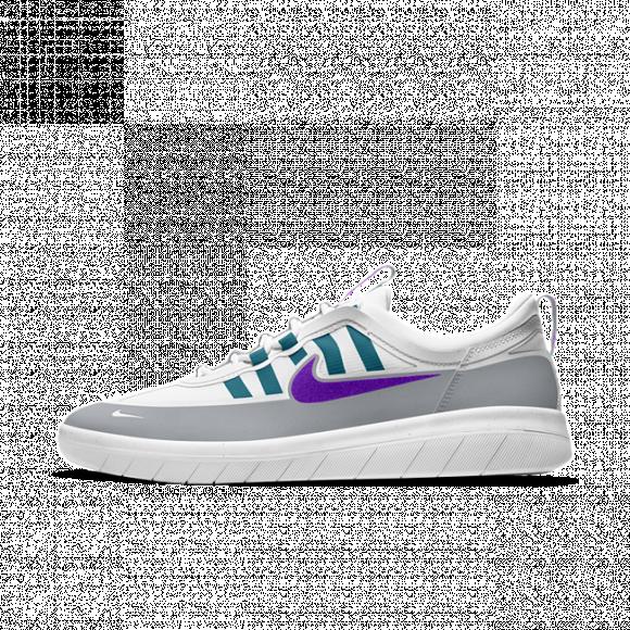 Nike SB Nyjah Free 2 Skate Shoe - Grey - BV2078-008