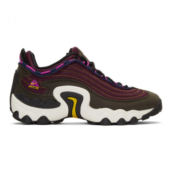 Nike Purple and Green ACG Air Skarn Sneakers - CD2189