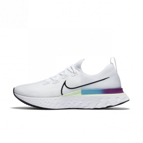 Nike Mens Nike React Infinity Run Flyknit - Mens Running Shoes White/Black/Vapor Green Size 09.5 - CD4371-102