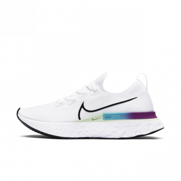 Nike Womens Nike React Infinity Run Flyknit - Womens Running Shoes White/Black/Vapor Green Size 09.5 - CD4372-102