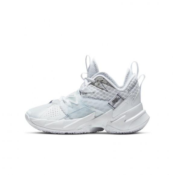 Boys Jordan Jordan Why Not Zer0.3 - Boys' Grade School Shoe White/Mtlc Silver/White Size 03.5 - CD5804-103