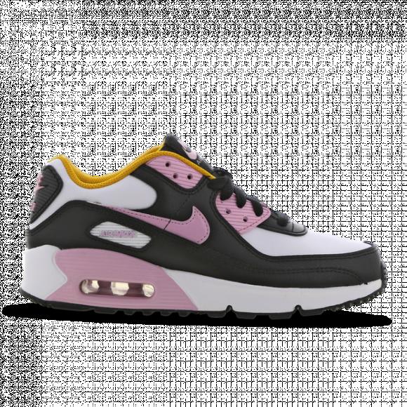 Nike Girls Nike Air Max 90 - Girls' Grade School Running Shoes Black/Light Arctic Pink/White Size 7.0 - CD6864-007
