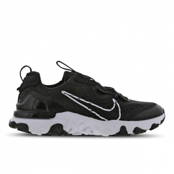 Boys Nike Nike React Vision - Boys' Grade School Shoe Black/White/Black Size 05.0 - CD6888-006