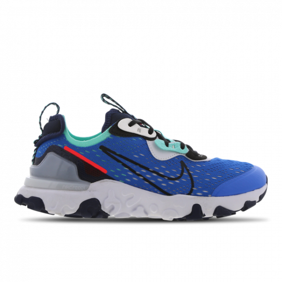 Nike Boys Nike React Vision - Boys' Grade School Running Shoes Photo Blue/Black/Midnight Navy Size 6.0 - CD6888-401