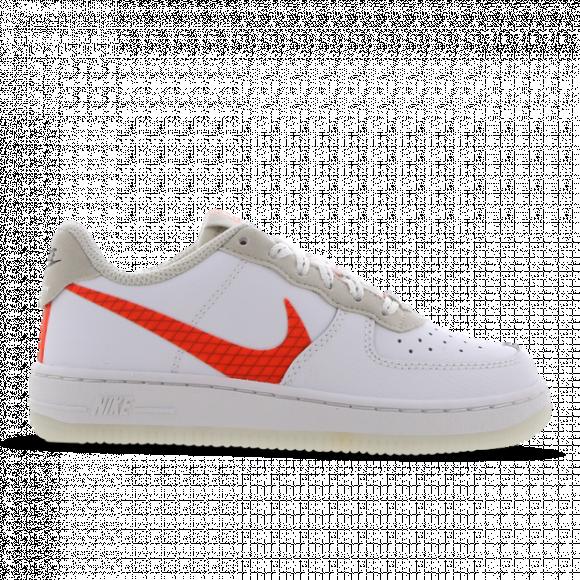 Boys Preschool Nike Nike AF1 LV8 - Boys' Preschool Shoe White/Orange Size 03.0 - CD7418-100