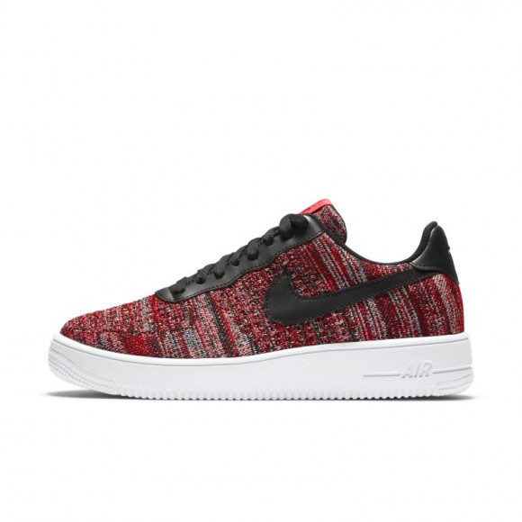 Nike Air Force 1 Flyknit 2.0 University Red Black - CI0051-600