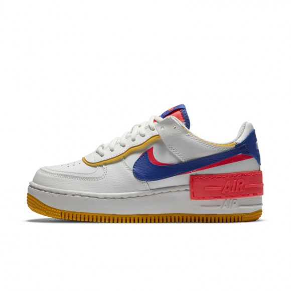 Nike Air Force 1 Shadow White Flash Crimson Astronomy Blue (W) - CI0919-105