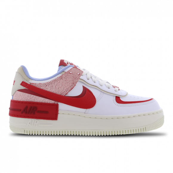 Nike WMNS Air Force 1 Shadow 'Summit White University Red' (2021) - CI0919-108