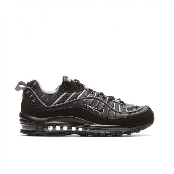 Nike Mens Nike Air Max 98 Mens Shoes Black Black Smoke Grey Vast