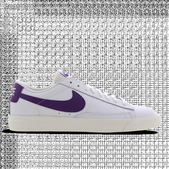 Nike Blazer Low Leather White Purple - CI6377-103