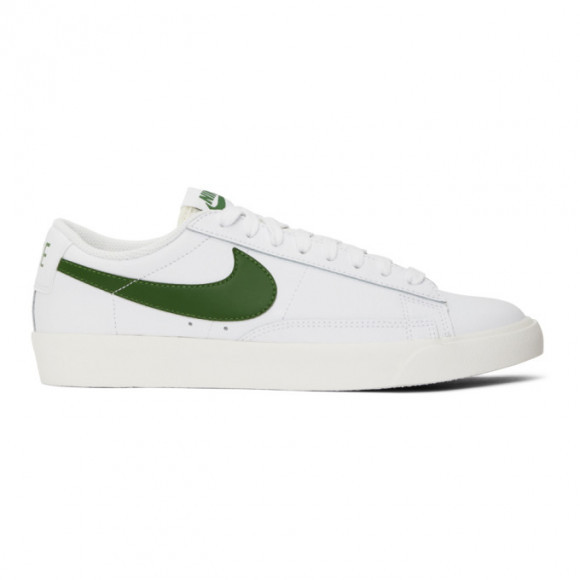 Nike White and Green Leather Blazer Low Sneakers - CI6377