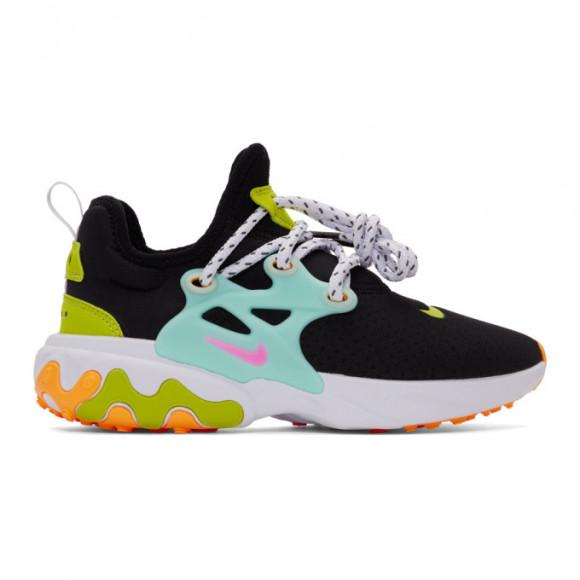 Nike Womens Nike React Presto - Womens Running Shoes Black/Psychic Pink/Teal Tint Size 11.0 - CJ0554-001