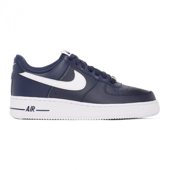 Nike Navy and White Air Force 1 07 Sneakers - CJ0952