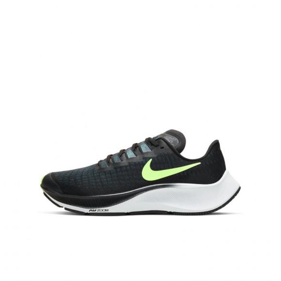 Boys Nike Nike Air Zoom Pegasus 37 - Boys' Grade School Running Shoe Black/Ghost Green/Valerian Blue Size 06.5 - CJ2099-001