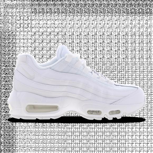 Nike Air Max 95 - Boys' Grade School Running Shoes - White / White / White