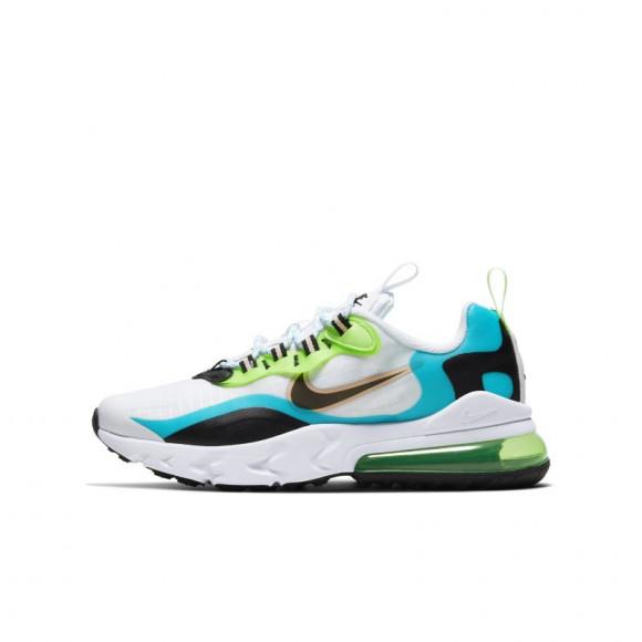 Nike Boys Nike Air Max 270 React - Boys' Grade School Shoes Aqua/Green Size 06.0 - CJ4060-300