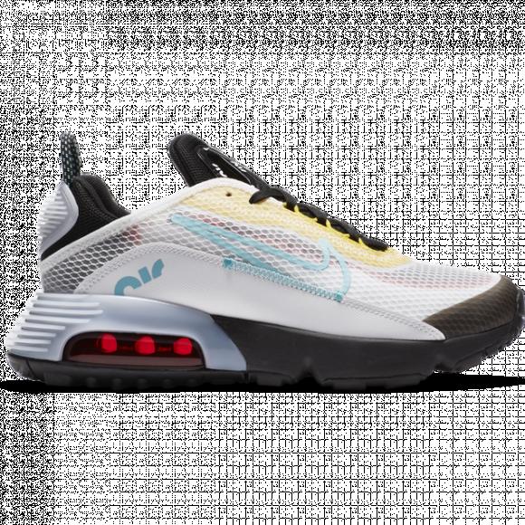 Boys Nike Nike Air Max 2090 - Boys' Grade School Running Shoe White/Blue/Black Size 07.0 - CJ4066-103