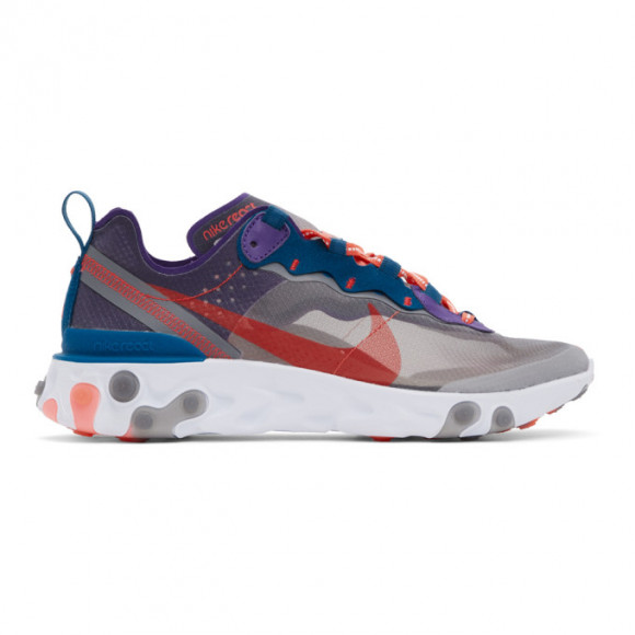 Nike Mens Nike React Element 87 - Mens Shoes Black/Red/Green/Purple Size 11.0 - CJ6897