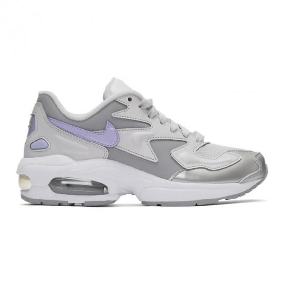 Nike Grey and Purple Air Max 2 Light Sneakers - CJ7981-001
