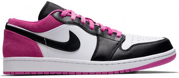 Jordan Mens Jordan AJ 1 Low SE - Mens Shoes Black/Active Fuchsia/White Size 08.5 - CK3022-005