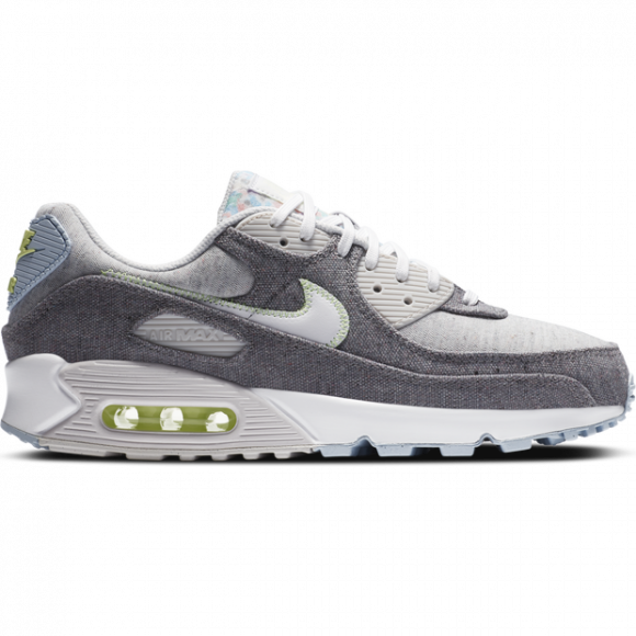 Nike Mens Nike Air Max 90 - Mens Running Shoes Vast Grey/White/Barely Volt Size 09.5 - CK6467-001