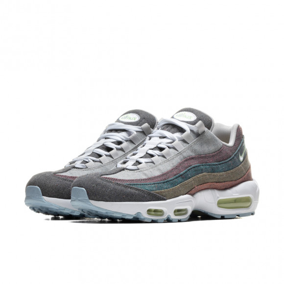 Nike Mens Nike Air Max 95 - Mens Running Shoes Vast Grey/White/Barely Volt Size 09.5 - CK6478-001