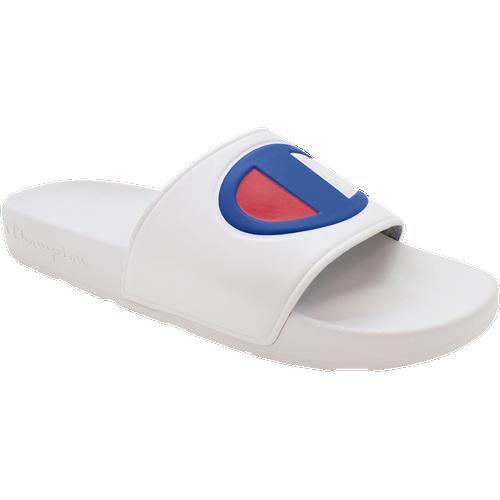 Champion IPO Slide - Men's Shoes - White / White / Red - CM100074M