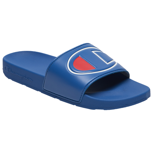 Champion IPO Slide - Men's Shoes - Surf The Web / Red / White - CM100147M