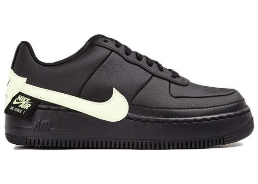 Nike Womens Nike Air Force 1 Jester - Womens Shoes Black/Barely Volt Size 08.0 - CN0139-001