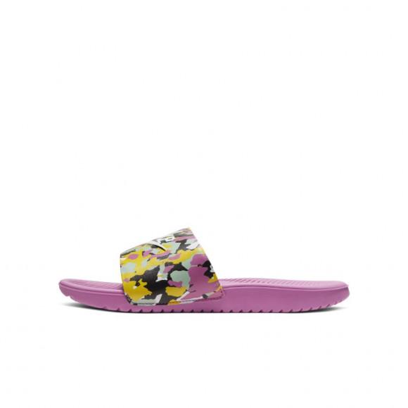 Boys Nike Nike Kawa Slide - Boys' Grade School Shoe Cosmic Fuchsia/White/Emerald Rise Size 07.0 - CN7430-600