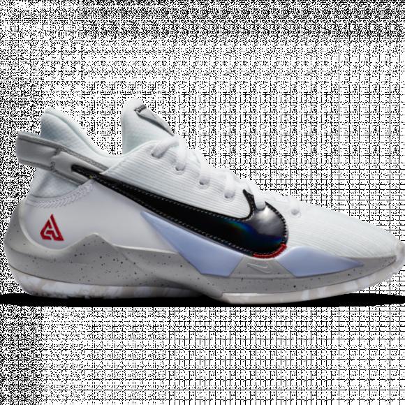 Boys Nike Nike Freak 2 - Boys' Grade School Shoe White/White/University Red Size 07.0 - CN8574-100