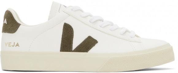 Veja White & Grey V-10 Sneakers - CP052347B
