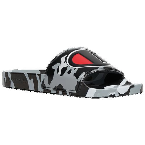 Champion IPO Camo Slides - Men's Slides - Black / White - CP100460M-004