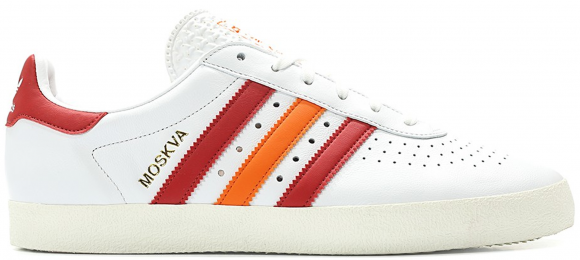 adidas 350 White Scarlet Orange - CQ2778