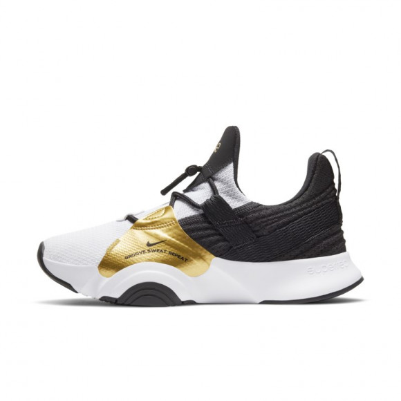 Nike Womens Nike Superrep Groove - Womens Training Shoes White/Black/Metallic Gold Coin Size 09.5 - CT1248-109