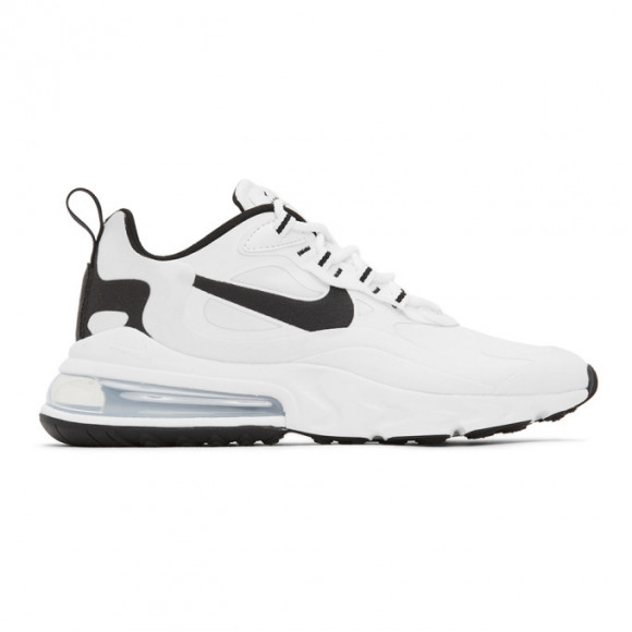 Nike White and Black Air Max 270 React Sneakers - CT1264-102