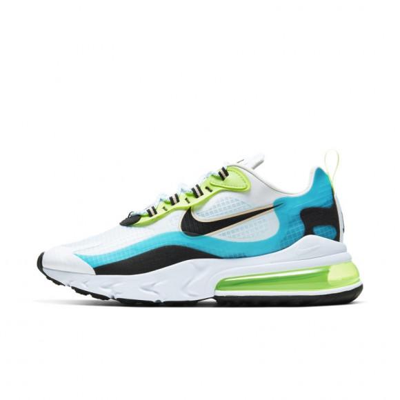 Nike Mens Nike Air Max 270 React - Mens Shoes Aqua/Black Size 11.5 - CT1265-300