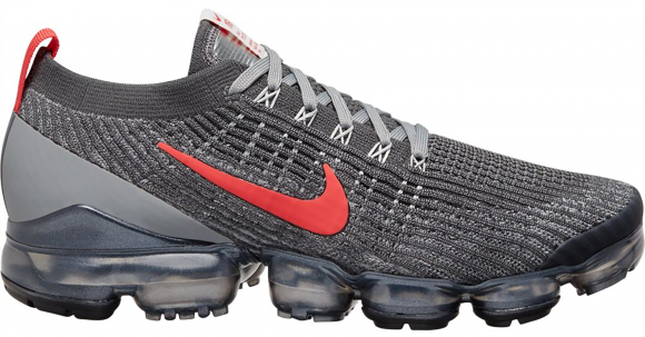 Nike Air VaporMax Flyknit 3 Grey Track Red - CT1270-001