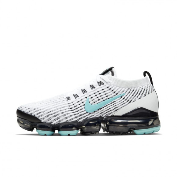 Nike Womens Nike Air VaporMax Flyknit 3 - Womens Running Shoes White/Aurora Green/Black Size 07.0 - CT1274-100