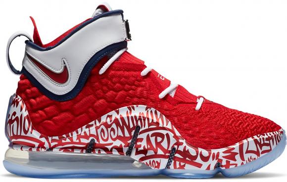 Nike LeBron 17 Graffiti Remix Red - CT6047-600/CT6052-600