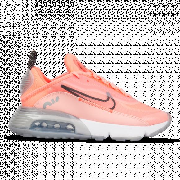 Nike Womens Nike Air Max 2090 Womens Running Shoes Lava GlowBlackFlash Crimson Size 08.0