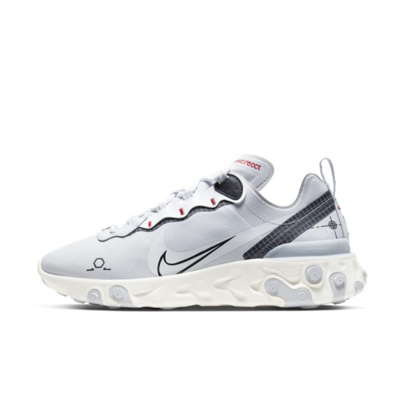 Nike Chaussure Nike React Element 55 pour Homme - Pure Platinum ...