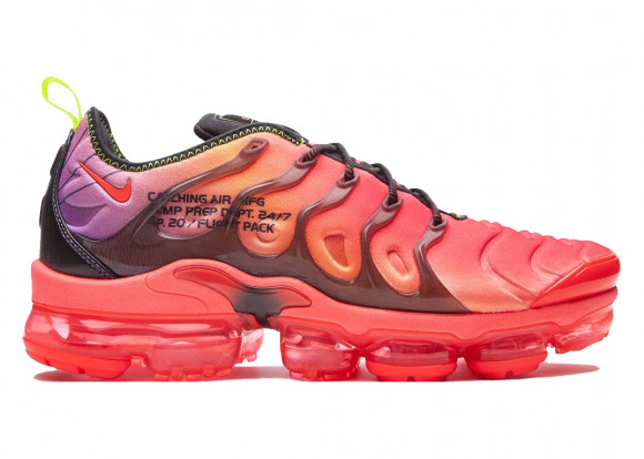 Nike Mens Nike Air Vapormax Plus - Mens Shoes Black/Crimson/Volt Size 10.5 - CU4709-001