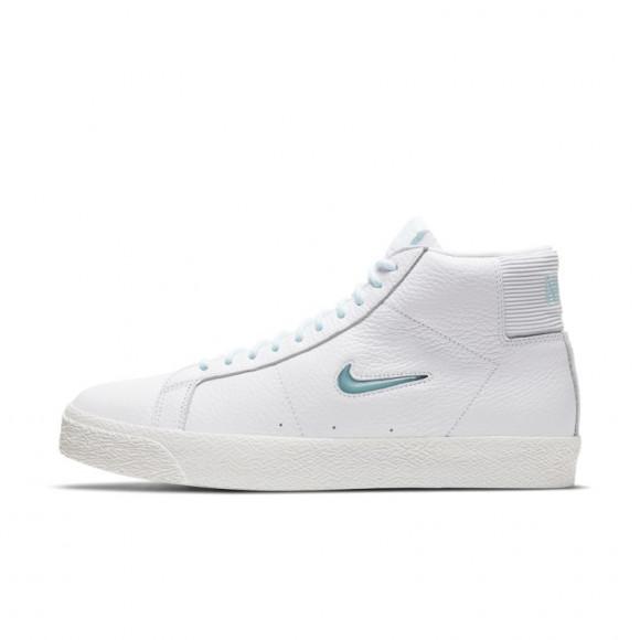Nike SB Zoom Blazer Mid Premium Skate Shoe - White - CU5283-100