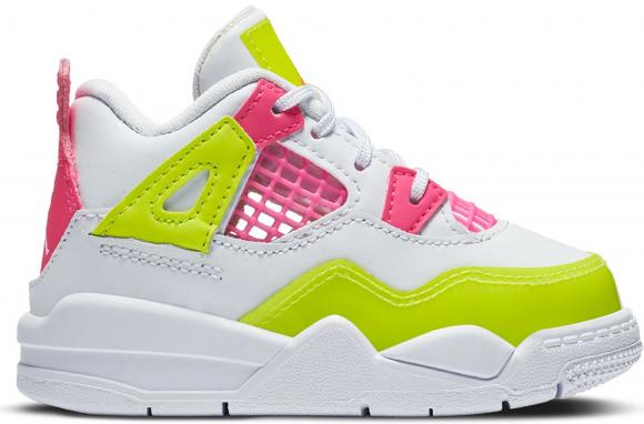 Jordan 4 Retro White Lemon Pink (TD) - CV7807-100