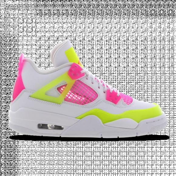 Girls Jordan Jordan Retro 4 - Girls' Grade School Shoe White/Yellow/Pink Size 07.0 - CV7808-100